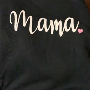 Mama black hoodie